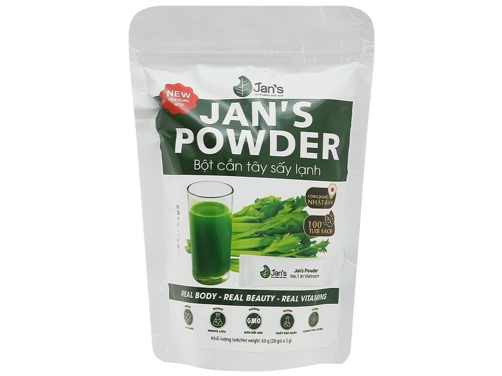 Bột cần tây sấy lạnh Jan's Powder bịch 60g 1