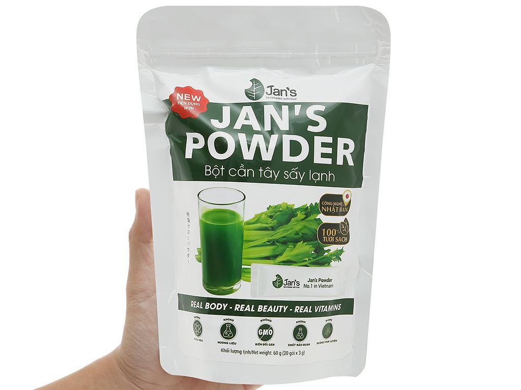 Bột cần tây sấy lạnh Jan's Powder bịch 60g 6