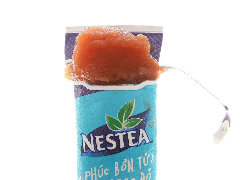 Trà kem tuyết Nestea vị Phúc bồn tử và hoa Atisô đỏ thanh 100ml 6