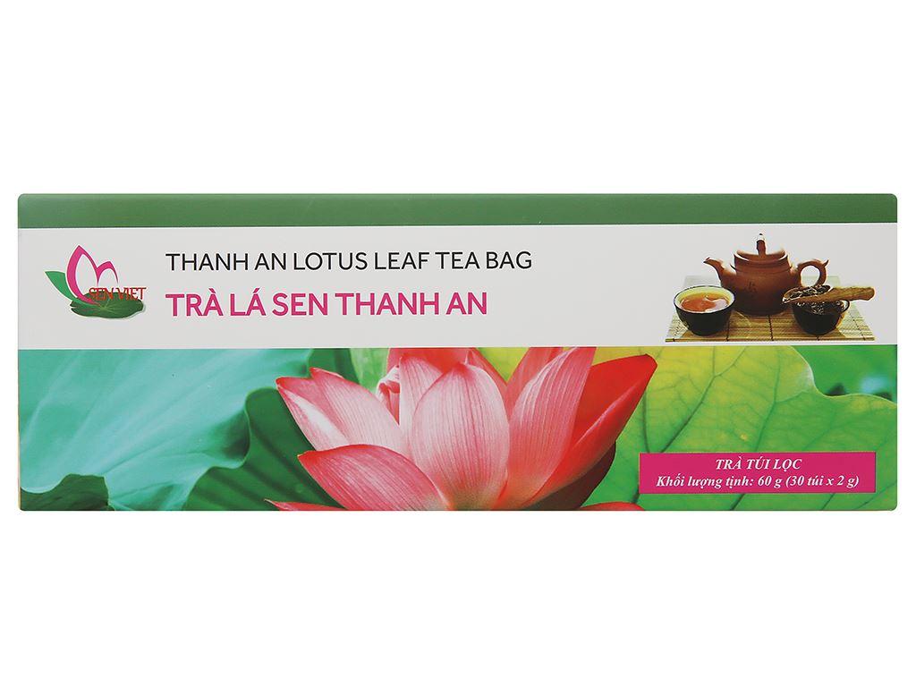 Trà túi lọc lá sen thanh an Sen Việt hộp 60g 2