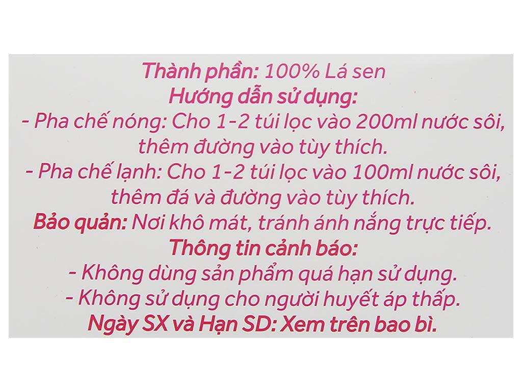 Trà túi lọc lá sen thanh an Sen Việt hộp 60g 5