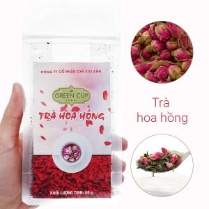 Trà ướp hoa hồng Kim Anh Green Cup gói 50g