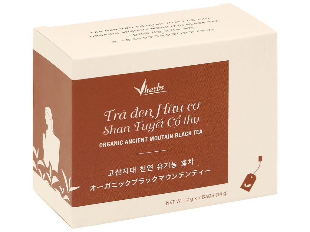 Trà đen hữu cơ Vherbs Shan Tuyết Cổ Thụ hộp 14g 1