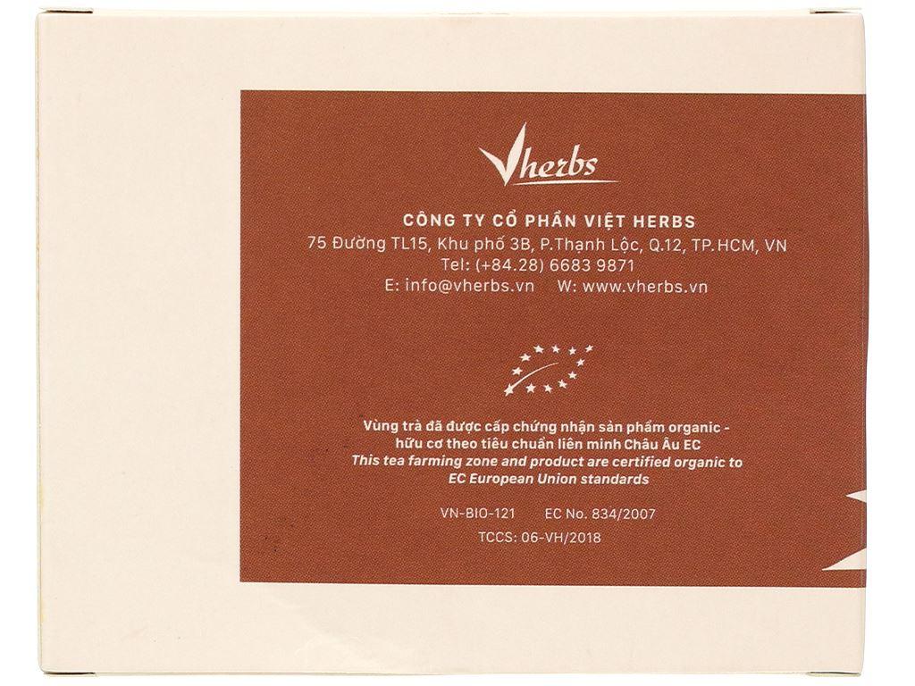 Trà đen hữu cơ Vherbs Shan Tuyết Cổ Thụ hộp 14g 4