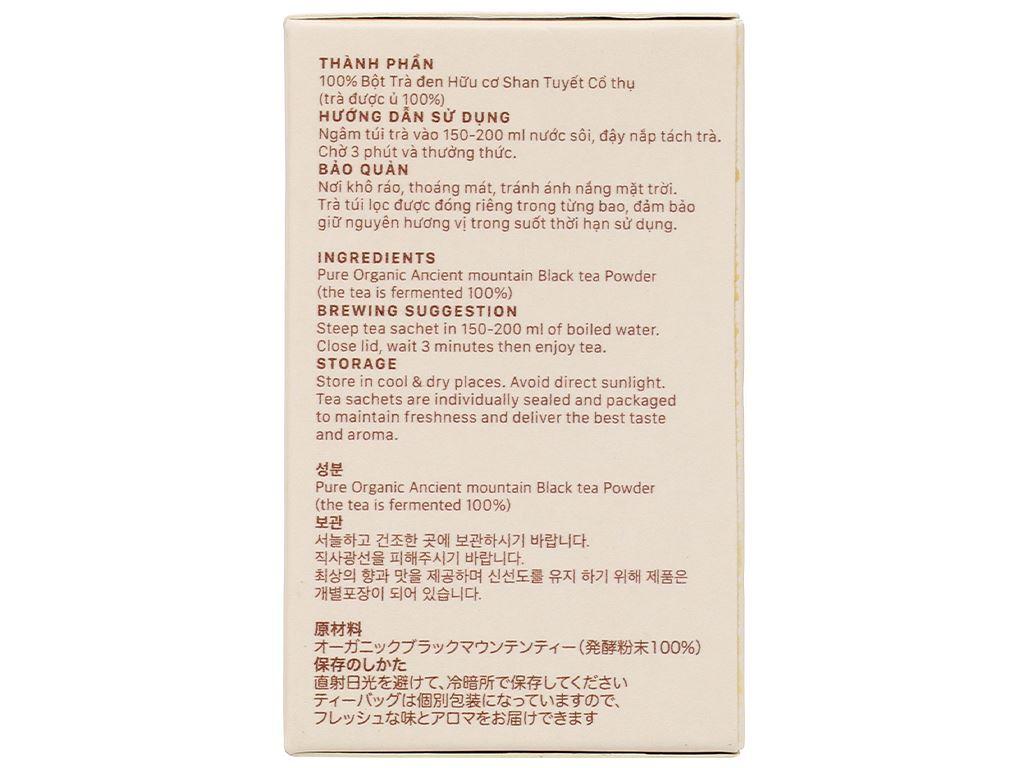 Trà đen hữu cơ Vherbs Shan Tuyết Cổ Thụ hộp 14g 5