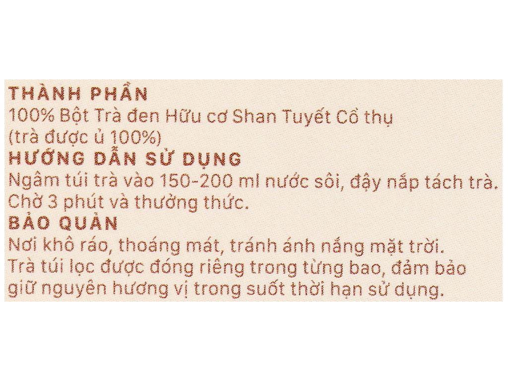 Trà đen hữu cơ Vherbs Shan Tuyết Cổ Thụ hộp 14g 6