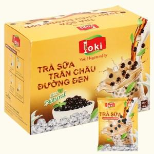 Trà sữa trân châu đường đen Yoki hộp 400g