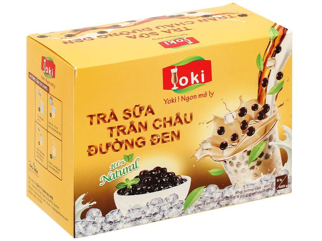 Trà sữa trân châu đường đen Yoki hộp 400g 1