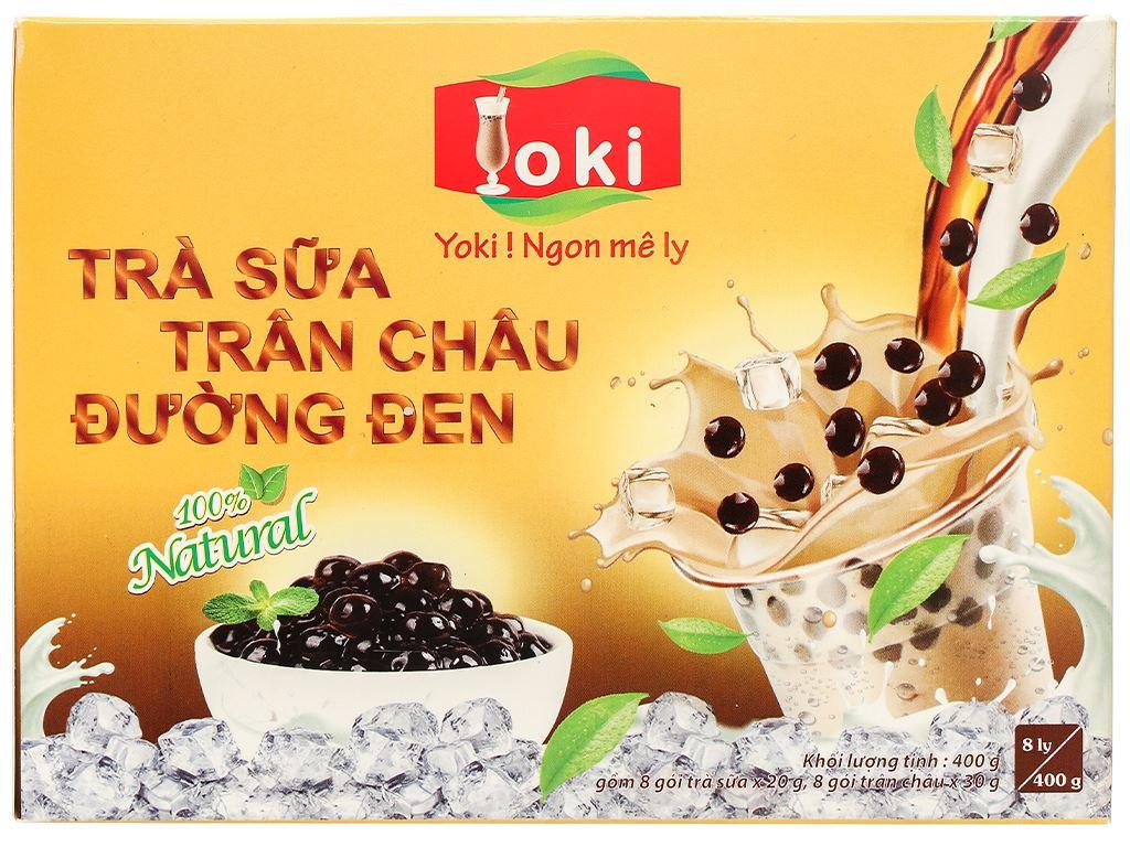 Trà sữa trân châu đường đen Yoki hộp 400g 2