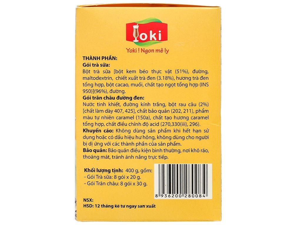 Trà sữa trân châu đường đen Yoki hộp 400g 5