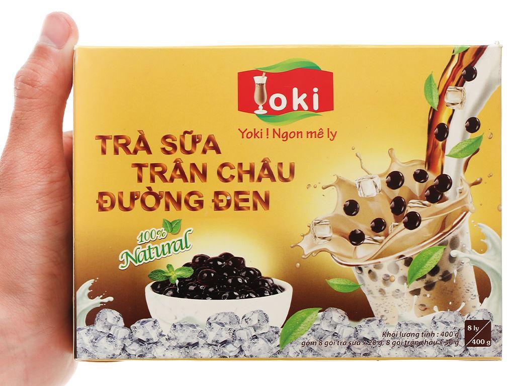 Trà sữa trân châu đường đen Yoki hộp 400g 7
