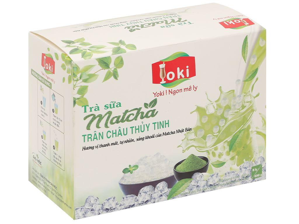 Trà sữa matcha trân châu thuỷ tinh Yoki hộp 400g 1