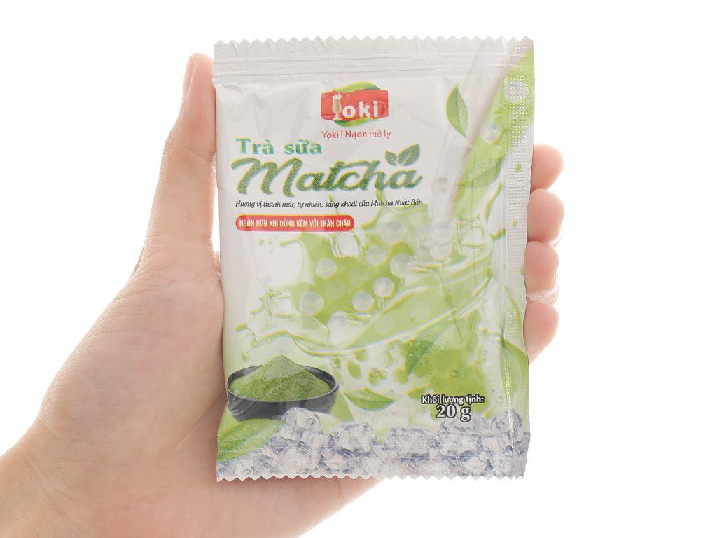 Trà sữa matcha trân châu thuỷ tinh Yoki hộp 400g 9