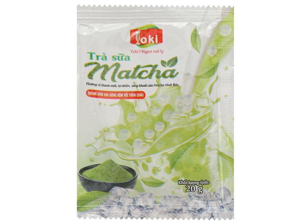 Trà sữa matcha trân châu thuỷ tinh Yoki hộp 400g 10