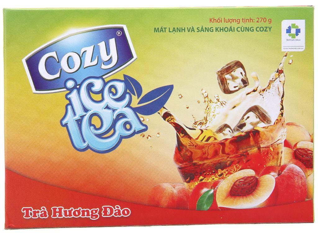 Trà Cozy Ice Tea hương đào hộp 270g 2