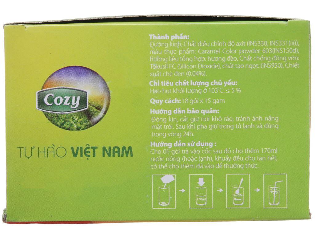 Trà Cozy Ice Tea hương đào hộp 270g 3