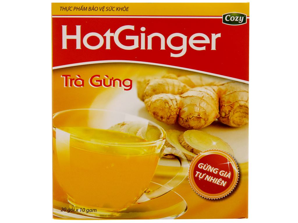 Trà gừng Cozy HotGinger hộp 200g (10g x 20 túi) 2