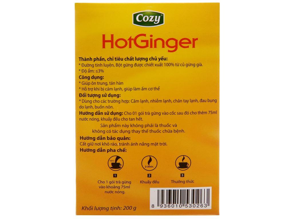 Trà gừng Cozy HotGinger hộp 200g (10g x 20 túi) 3