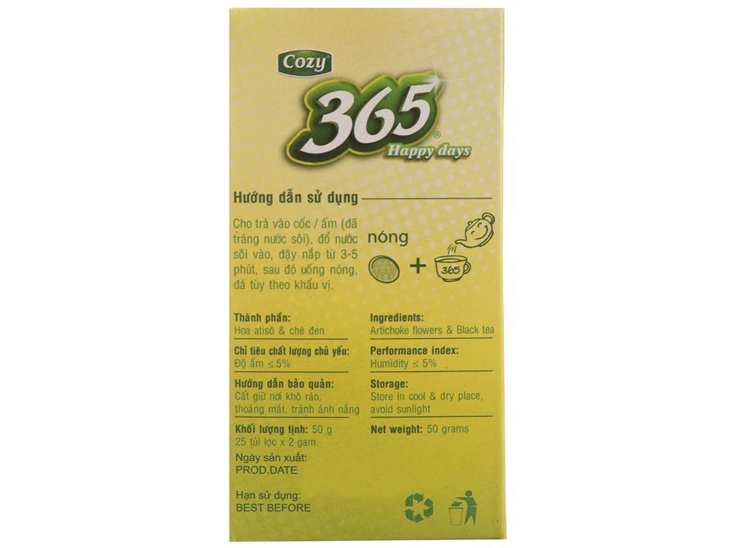 Trà Atisô Cozy 365 Daily Tea hộp 50g (2g x 25 túi) 3