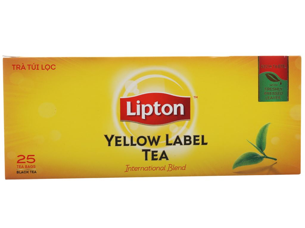 Trà đen Lipton nhãn vàng hộp 50g (2g x 25 túi) 1