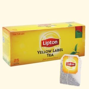Trà đen Lipton nhãn vàng hộp 50g