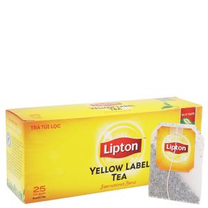 Trà đen Lipton nhãn vàng hộp 50g (2g x 25 túi)