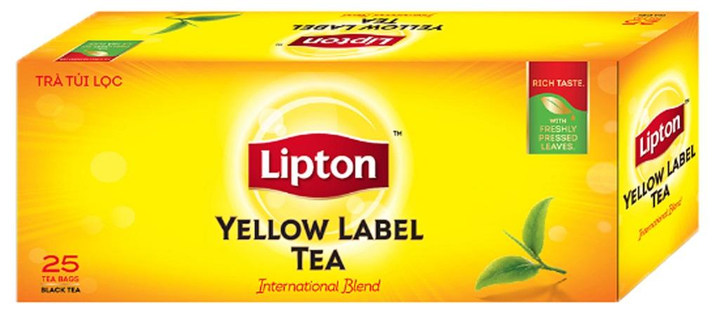 Trà Lipton nhãn vàng túi lọc 2g (hộp 25 gói)