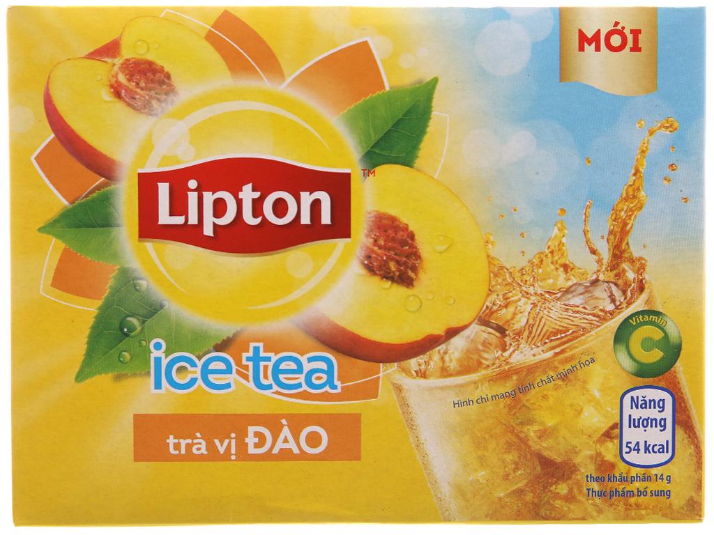 Trà đào Lipton Ice Tea hộp 224g (14g x 16 túi) 1