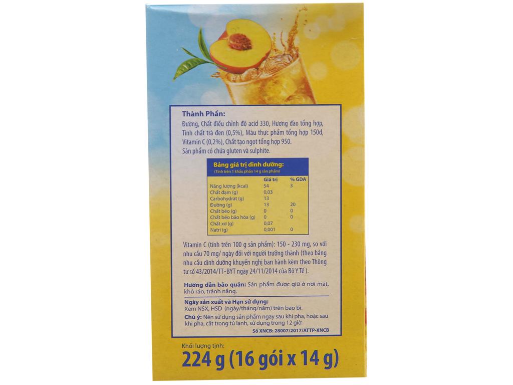 Trà đào Lipton Ice Tea hộp 224g (14g x 16 túi) 2