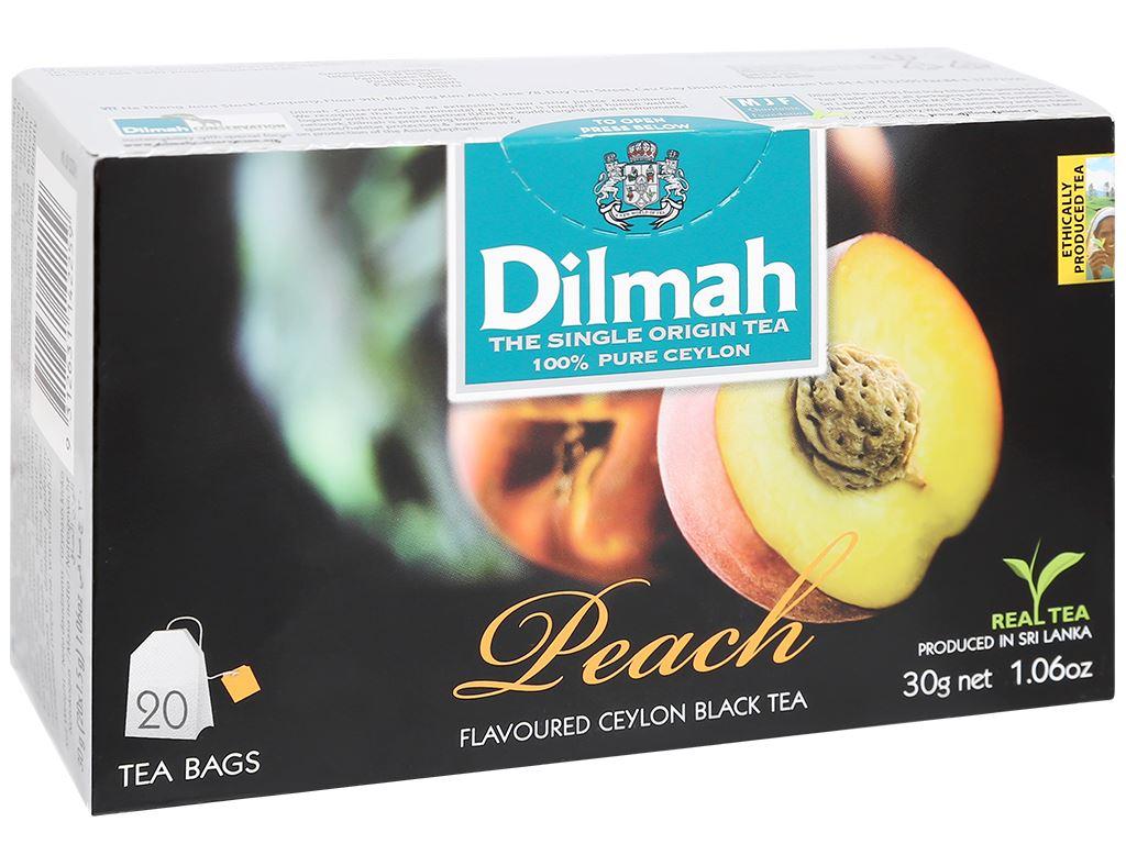 Trà Ceylon Dilmah hương đào 30g 1