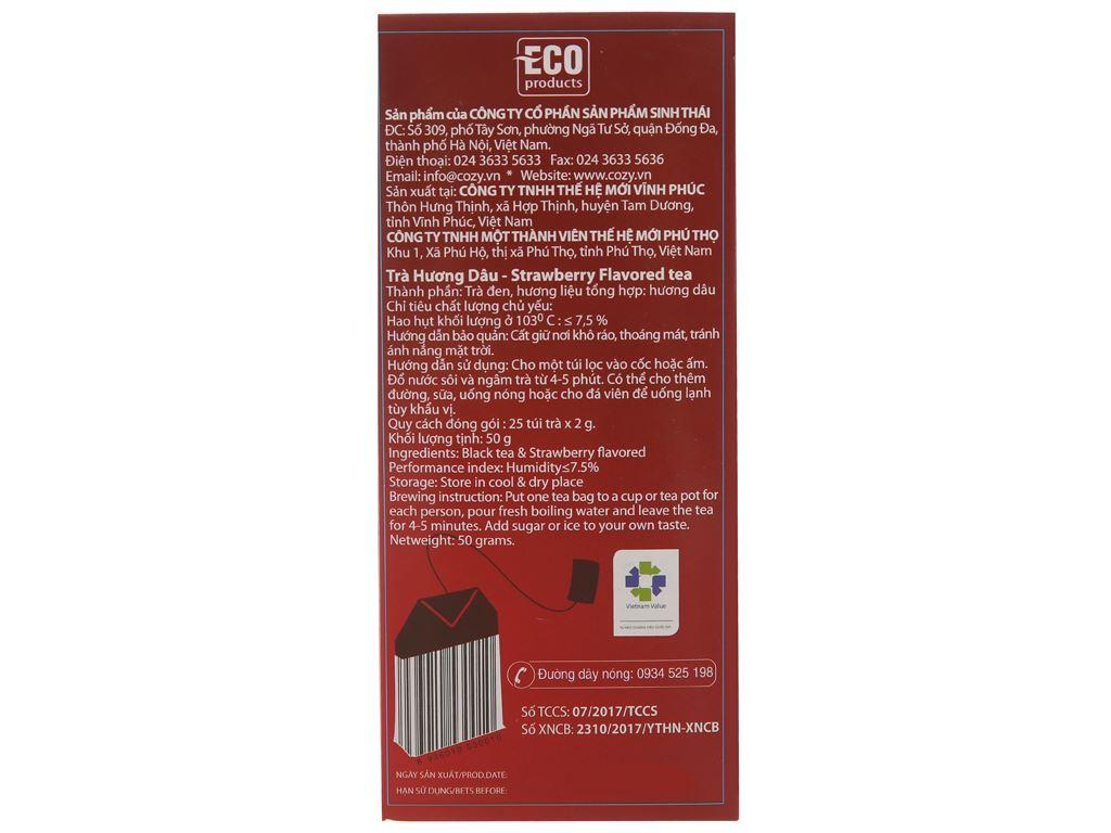 Trà hương dâu Cozy hộp 50g (2g x 25 túi) 3