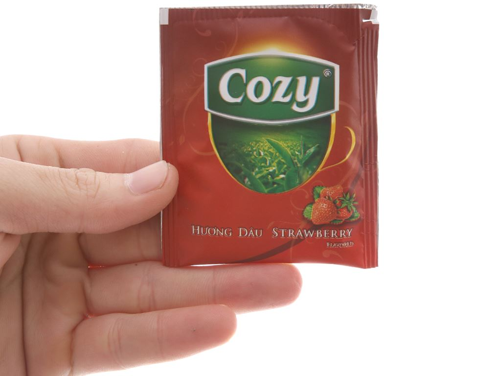 Trà hương dâu Cozy hộp 50g (2g x 25 túi) 4