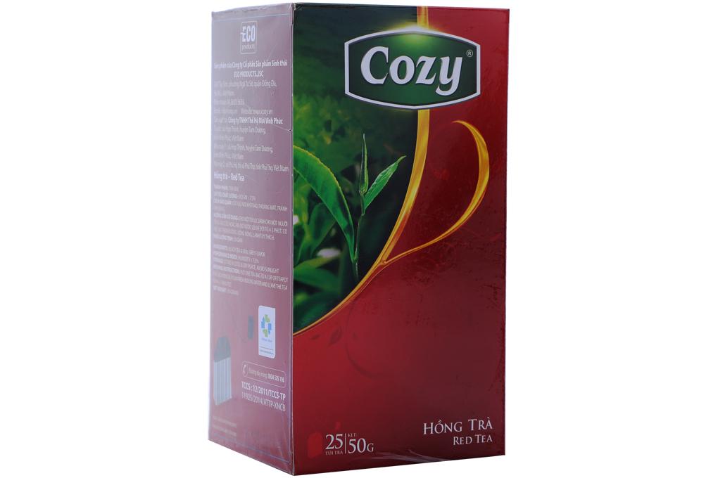 Hồng trà Cozy túi lọc 2g (hộp 25 gói)