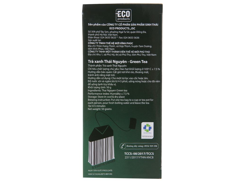 Trà xanh Cozy hộp 50g (2g x 25 túi) 3