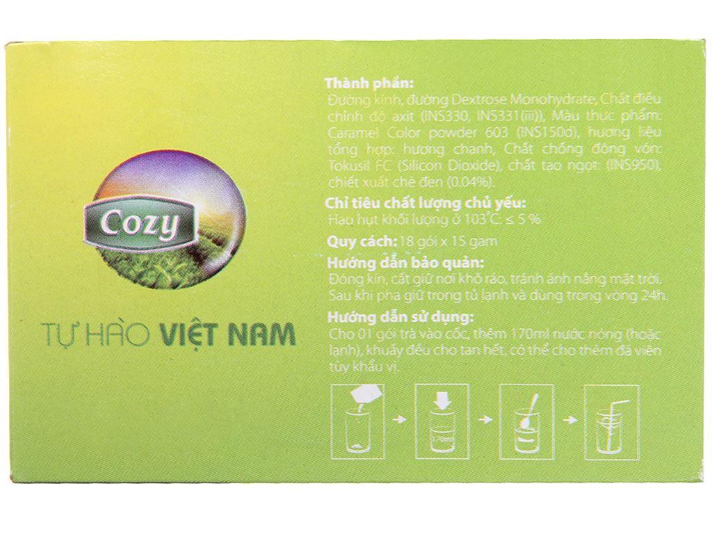 Trà Cozy Ice Tea hương chanh hộp 270g 3