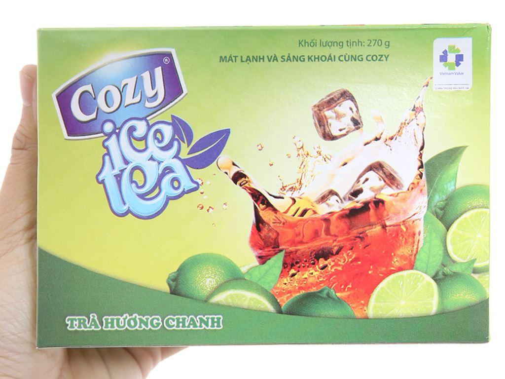 Trà Cozy Ice Tea hương chanh hộp 270g 5