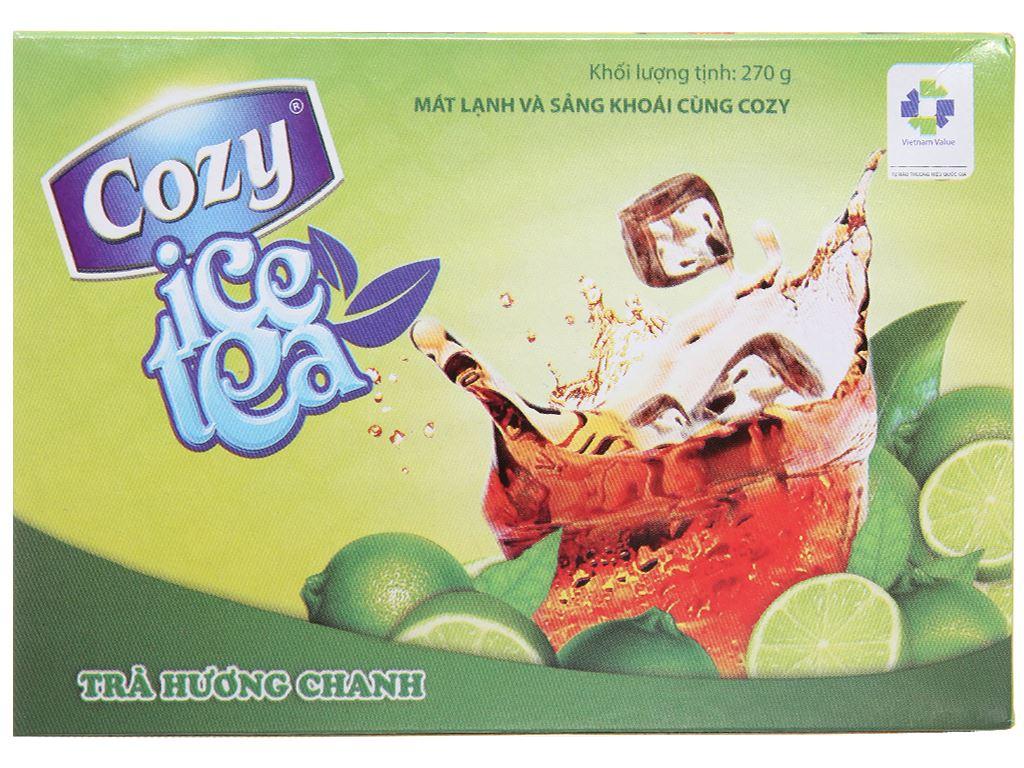 Trà Cozy Ice Tea hương chanh hộp 270g 1