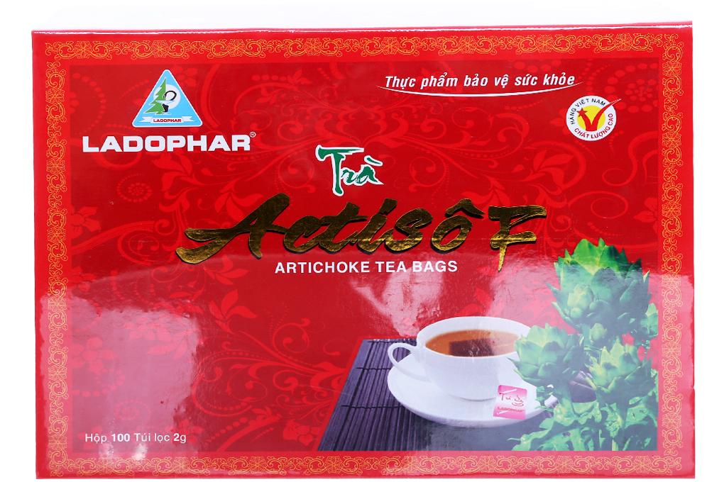 Trà túi lọc Actiso Đà Lạt Ladophar túi 2g (bịch 100 gói)