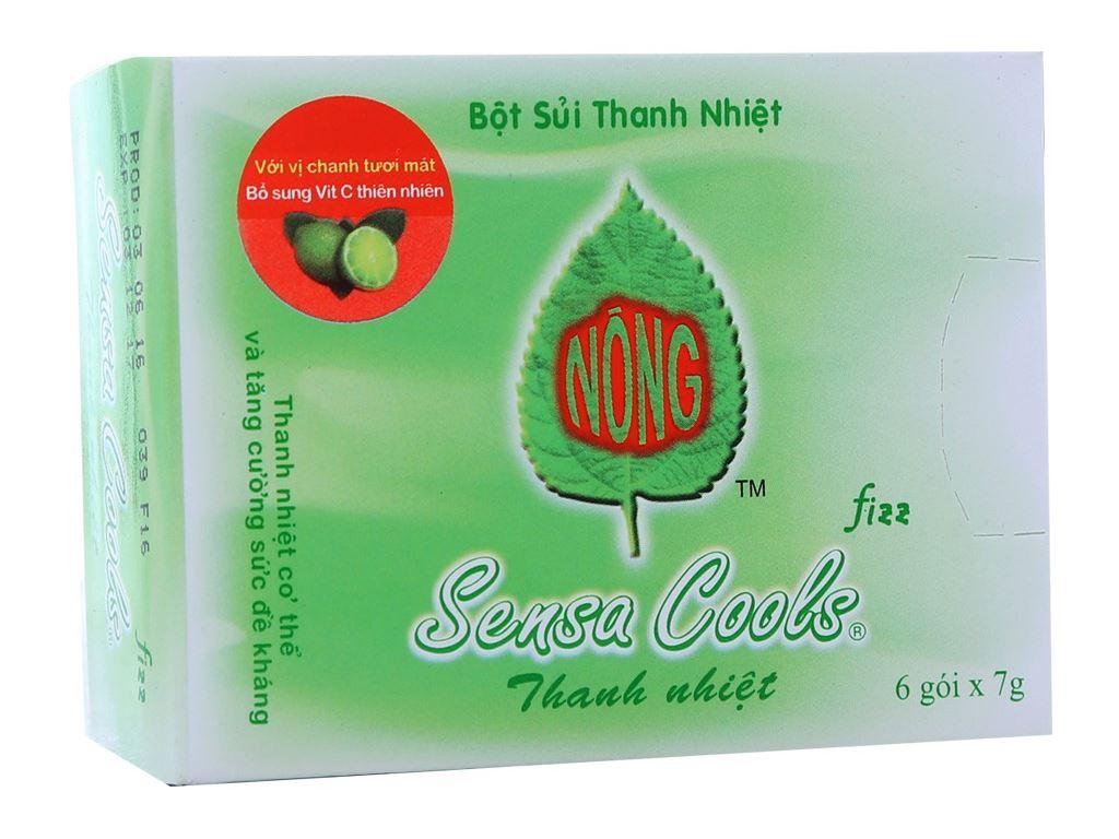 Bột sủi thanh nhiệt Sensa Cools hộp 42g (7g x 6 túi) 1