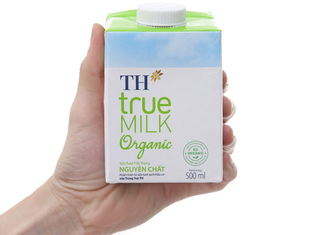 Sữa tươi tiệt trùng nguyên chất TH true MILK Organic hộp 500ml 5