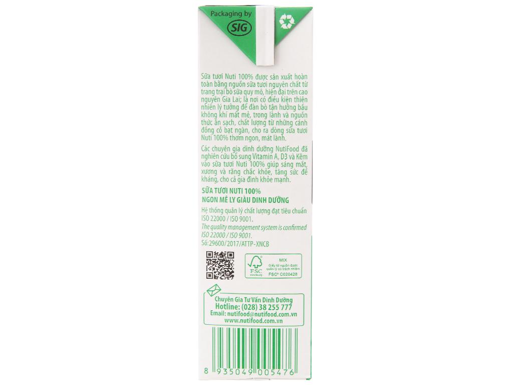 Sữa tươi tiệt trùng Nuti có đường hộp 1 lít 4