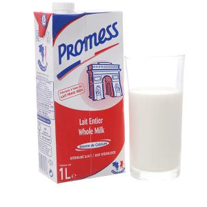Sữa tươi nguyên kem không đường Promess Whole Milk hộp 1 lít