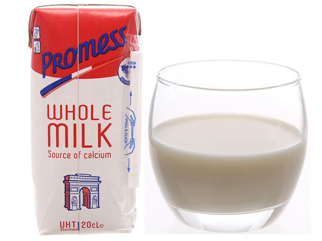 Lốc 6 hộp sữa tươi tiệt trùng Promess whole milk nguyên kem không đường 200ml 2