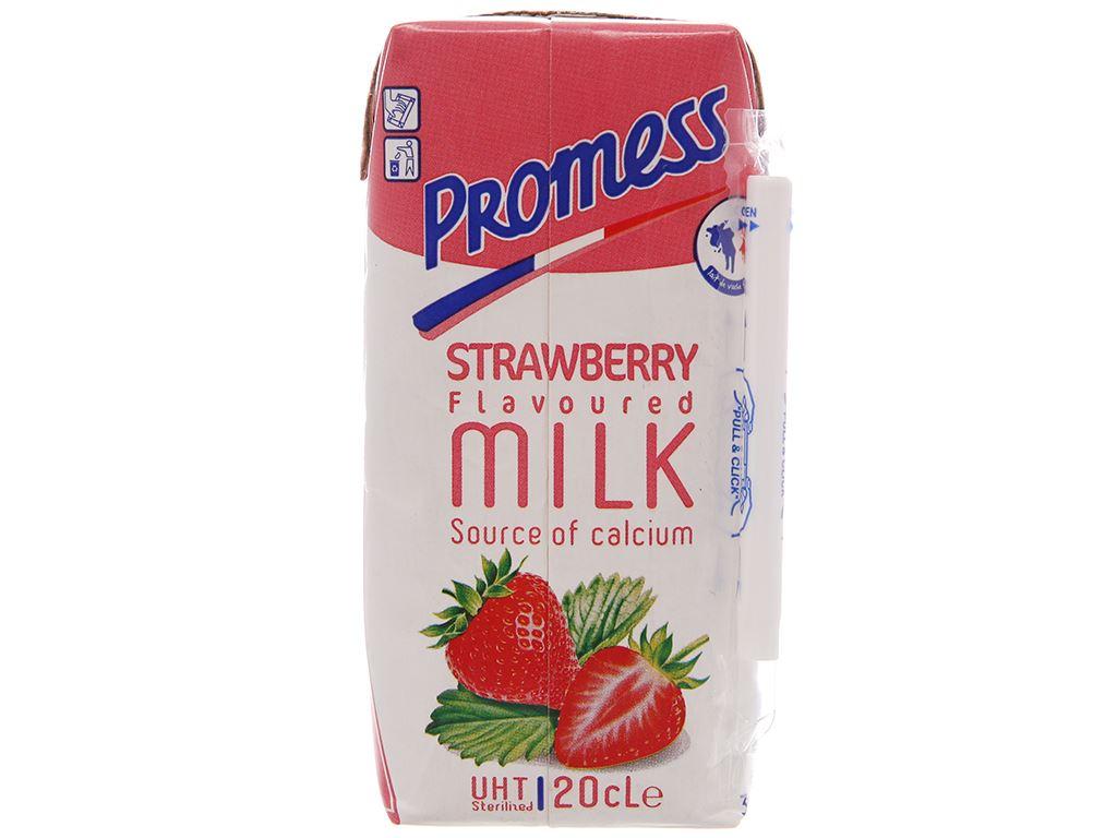 Sữa tươi tiệt trùng Promess hương dâu hộp 200ml 3