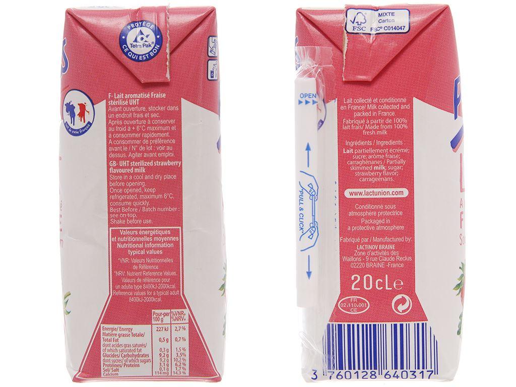 Sữa tươi tiệt trùng Promess hương dâu hộp 200ml 4