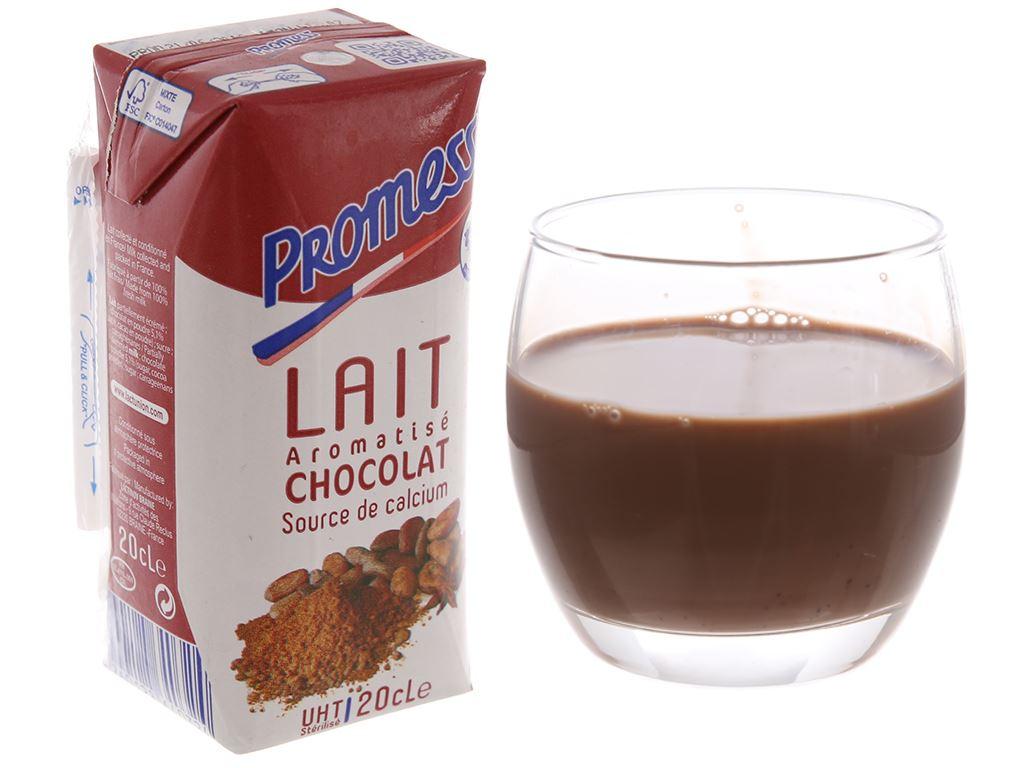 Lốc 6 hộp sữa tươi tiệt trùng socola Promess 200ml 2
