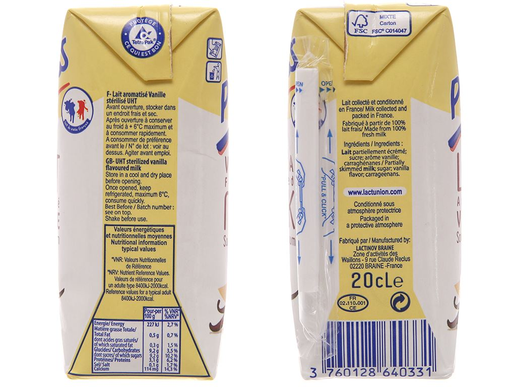 Lốc 6 hộp sữa tươi tiệt trùng hương vani Promess 200ml 4