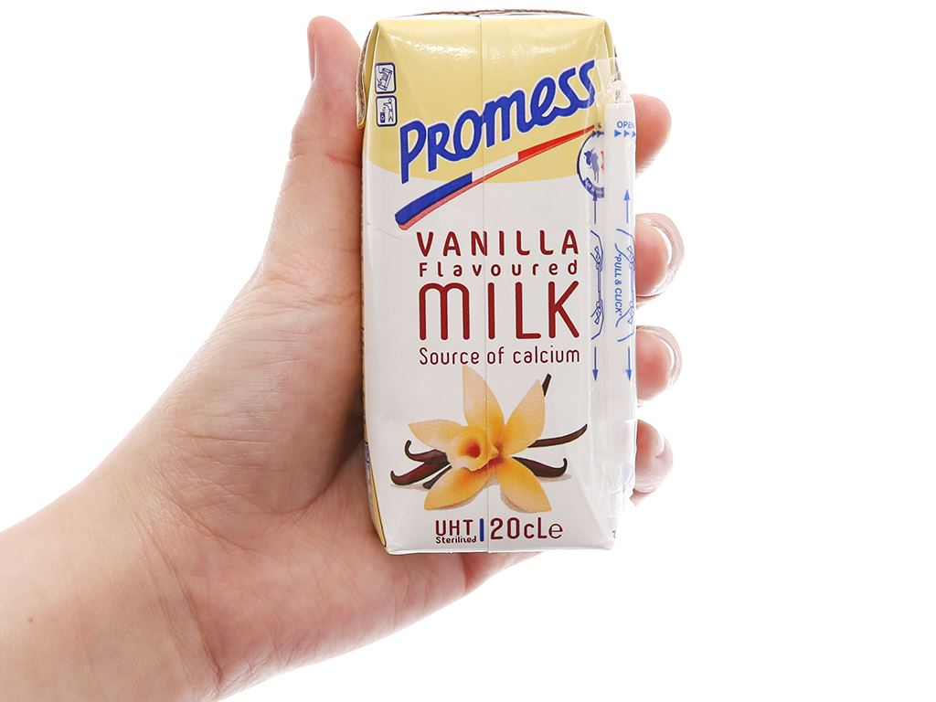 Sữa tươi tiệt trùng hương vani Promess hộp 200ml 4