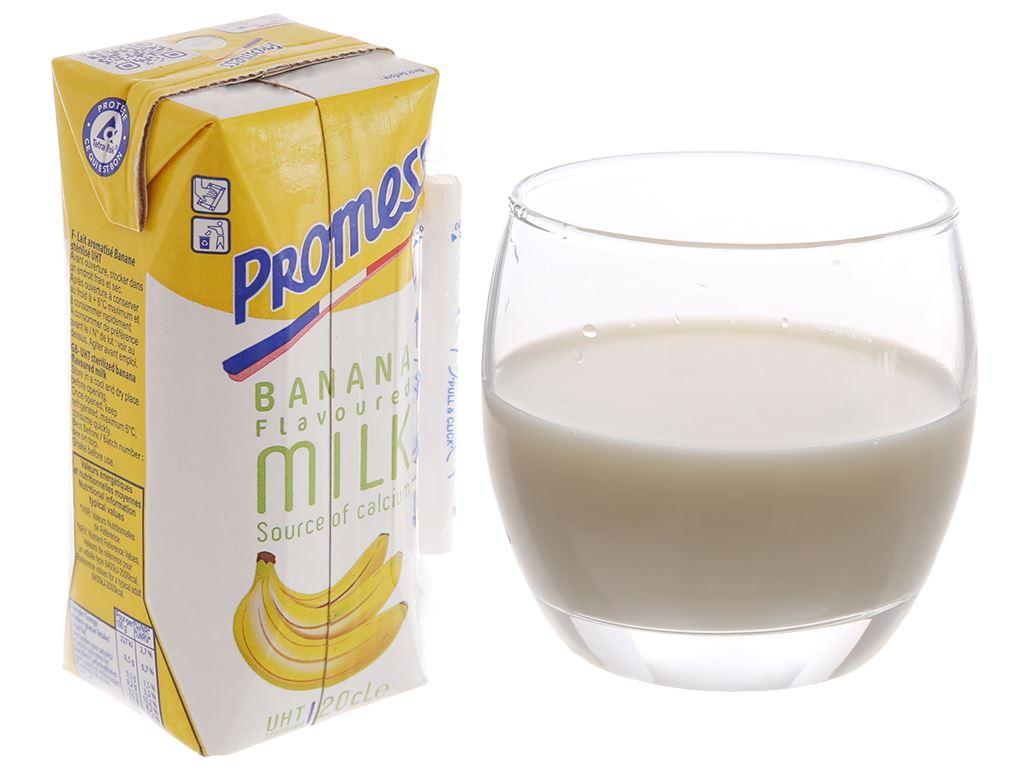 Lốc 6 hộp sữa tươi tiệt trùng Promess hương chuối 200ml 2