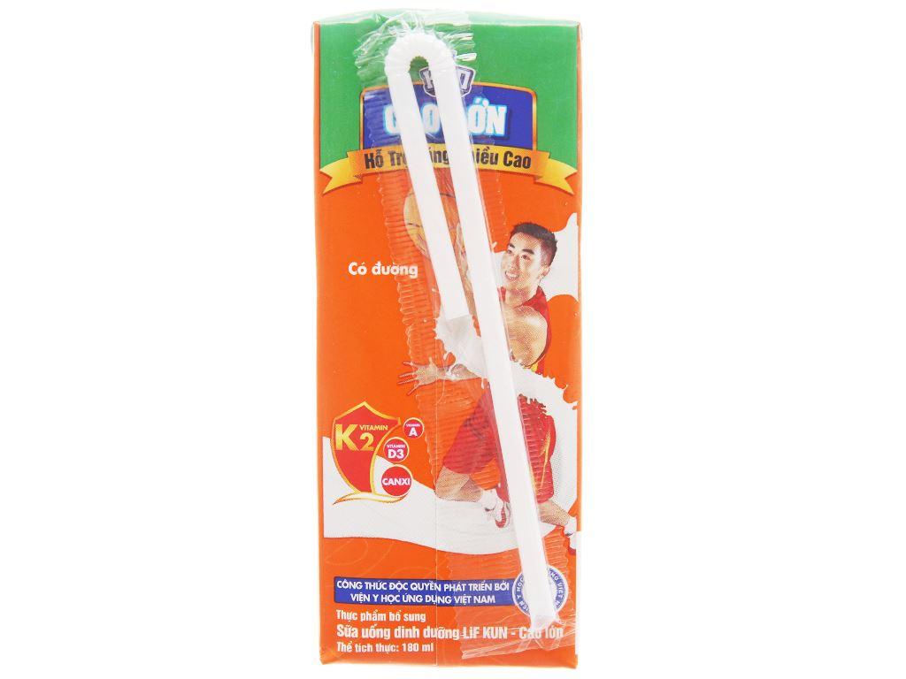 Sữa dinh dưỡng LiF Kun Cao lớn có đường hộp 180ml 4